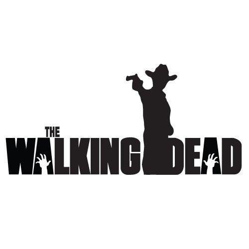 Rick Grimes Gun Hat The Walking Dead Logo Vinyl Sticker Decal For Car Windows Laptop - MyMonkeySticker.com