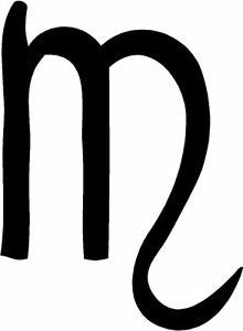 Scorpio Zodiac Sign Vinyl Car/Laptop/Window/Wall Decal - MyMonkeySticker.com