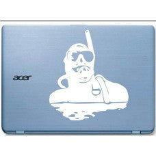 Scuba Diver 2 Automobile Car Window Decal Tablet PC Sticker Automobile Window Wall iphone Laptop Notebook Ipad macbook pro apple etcs - MyMonkeySticker.com