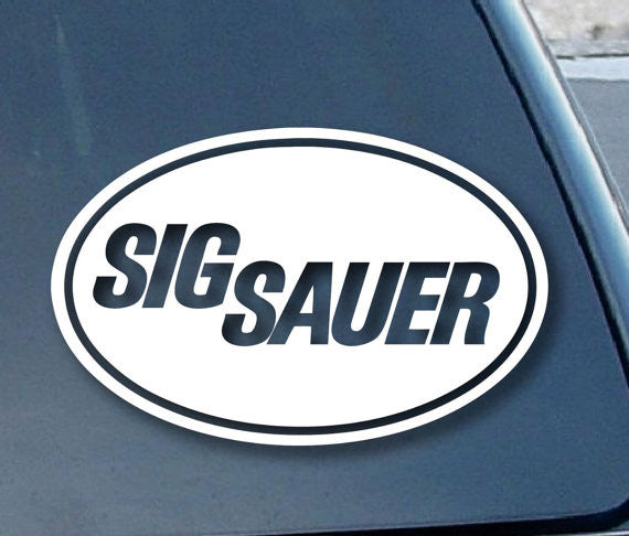 Sig Sauer Firearms Gun Logo Decal Sticker Vinyl Decorative for Wall Car Auto Ipad Macbook Laptop - MyMonkeySticker.com