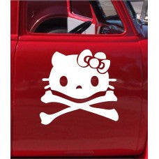 Skull Cat Automobile Car Window Decal Tablet PC Sticker Automobile Window Wall Laptop Notebook Etc. Any Smooth Surface - MyMonkeySticker.com