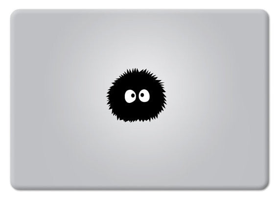 Soot Sprite Susuwatari My Neighbor Totoro Spirited Away Black Soots Dust Bunnies Miyazaki Apple Mac - MyMonkeySticker.com