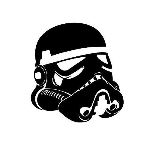 Star Wars Stormtrooper Head Wsll Helmet Vinyl Decal Sticker for Car Window Wall Truck, Room - MyMonkeySticker.com