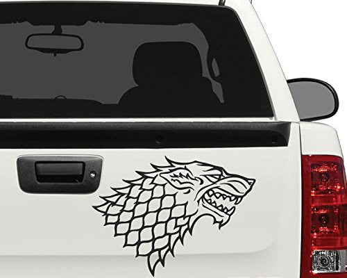 Starks Wolf Banner From the Game of Throne Decal Sticker for Car Window, Laptop - MyMonkeySticker.com