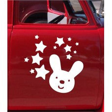 Stars and Rabbit Car Automobile Car Window Decal Tablet PC Sticker Automobile Window Wall Laptop Notebook Etc. Any Smooth Surface - MyMonkeySticker.com