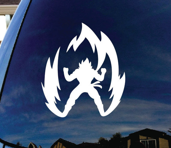 Super Saiyan Goku Dragon Ball Z Car Window Vinyl Decal Sticker - MyMonkeySticker.com