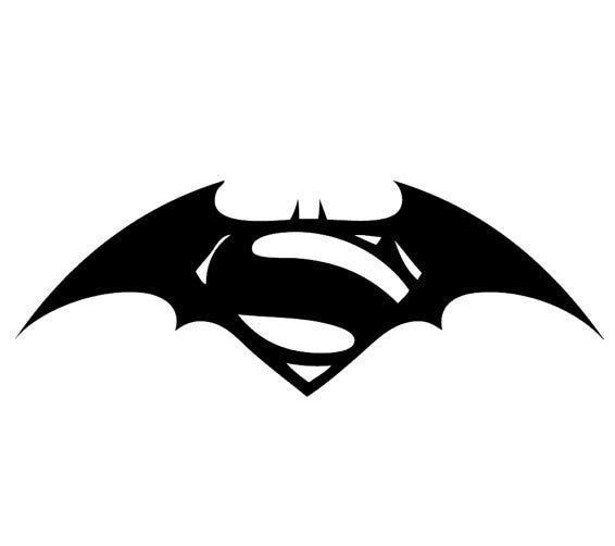Superman vs Batman Logo Decal Sticker Vinyl DC Universe Comics For Car Windows Laptop Room - MyMonkeySticker.com
