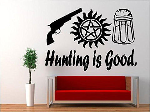 Supernatural Anti Possession Hunting is Good Vinyl Decal Sticker for Car Laptop Wall Truck Windows - MyMonkeySticker.com