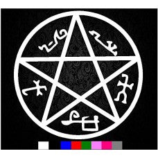 Supernatural Devils Trap Symbol Sigil Vinyl Sticker Decal Pentagram Possession - MyMonkeySticker.com