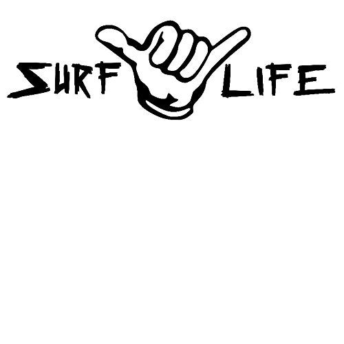 Surf Life Hang Loose Vinyl Car/Laptop/Window/Wall Decal - MyMonkeySticker.com