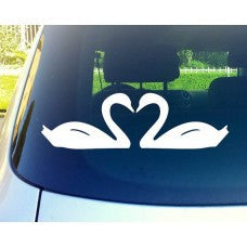 Swans Love Car Window Vinyl Decal Tablet PC Sticker - MyMonkeySticker.com