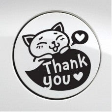 Thank You for Food Car Automobile Car Window Decal Tablet PC Sticker Automobile Window Wall Laptop Notebook Etc. Any Smooth Surface - MyMonkeySticker.com