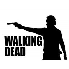 The Walking Dead Rick Grimes Sticker Decal Logo - MyMonkeySticker.com