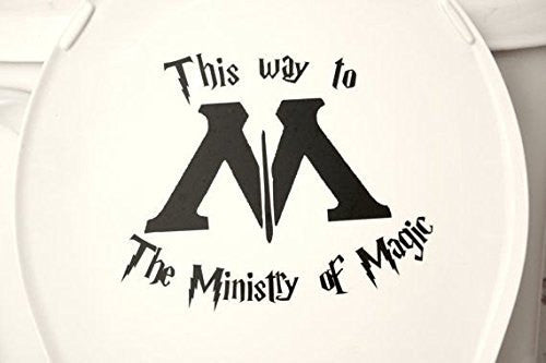 This Way to the Ministry of Magic Funny Harry Potter Decal Sticker for Car Windows Room - MyMonkeySticker.com