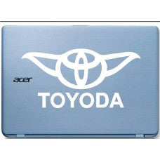 Toyoda Star Wars Yoda Car Window Decal Automobile Tablet Decal Tablet PC Sticker Wall Laptop mobile truck Notebook macbook Iphone Ipad - MyMonkeySticker.com