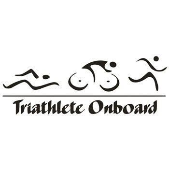 Triathlete Onboard  Vinyl Car/Laptop/Window/Wall Decal - MyMonkeySticker.com