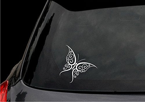 Tribal Butterfly Tattoo Decal Sticker - JDM Car Truck Window Laptop Suitcase Wall Home Decor - MyMonkeySticker.com