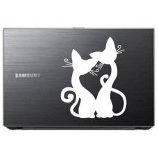 Two Cats Love Automobile Tablet Decal Tablet PC Sticker Wall Laptop mobile truck Notebook macbook Iphone Ipad Car Window Decal - MyMonkeySticker.com