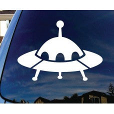 UFO Alien Spaceship Car Window Vinyl Decal Tablet PC Sticker - MyMonkeySticker.com