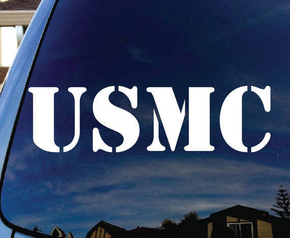 USMC United States Marine Corps Logo Decal Sticker Vinyl Decorative for Wall Car Auto Ipad Macbook Laptop - MyMonkeySticker.com