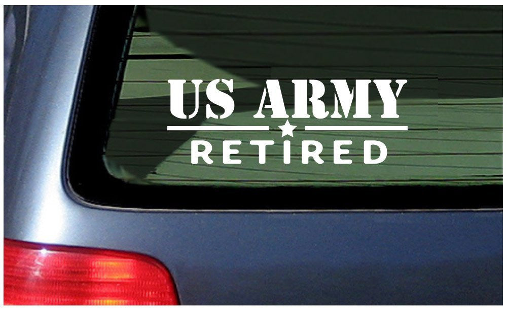 US Army Retired  Automobile Car Window Ipad Tableet PC Notebook Cumputer Decal Sticker - MyMonkeySticker.com
