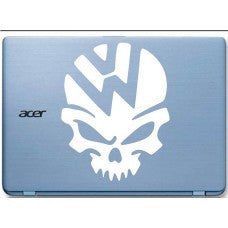 VW Volkswagen Skull Automobile Tablet Decal Tablet PC Sticker Wall Laptop mobile truck Notebook macbook Iphone Ipad Car Window Decal - MyMonkeySticker.com
