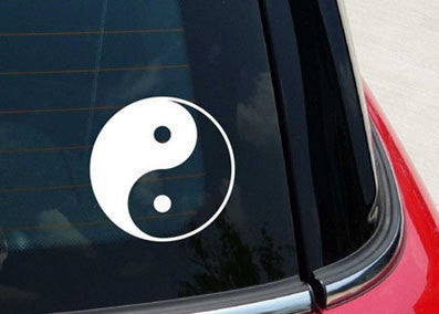 YIN & YANG logo Asian Vinyl Decal Sticker for wall car truck room - MyMonkeySticker.com