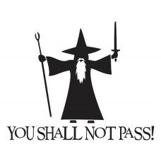 You Shall Not Pass! Holoween Tablet Decal Sticker Laptop cover Macbook Pro Apple Wall Design Decal Keyboard Design Decal Sticker Vinyl - MyMonkeySticker.com