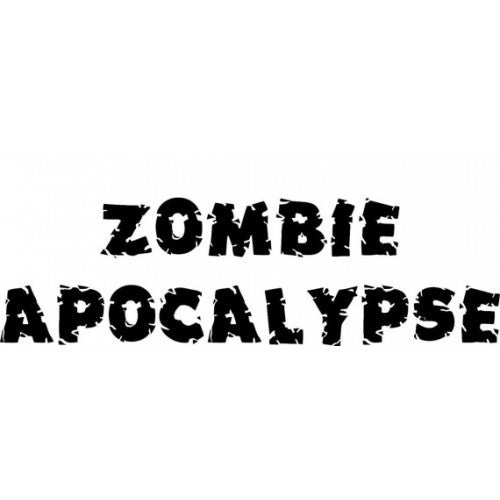 Zombie Apocalypse word sticker DEAD zombies Resident Evil Edition Hood Decal Sticker WALKING - MyMonkeySticker.com