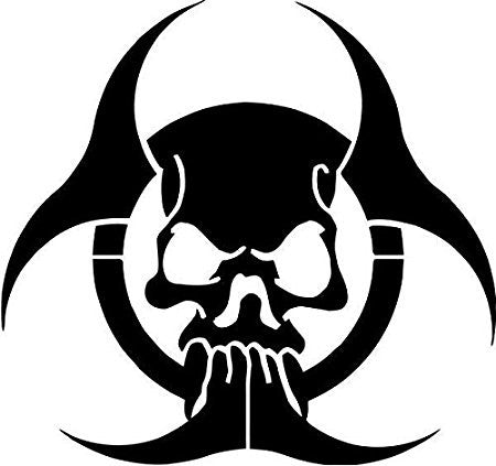 Zombie Biohazard Skull  Car Window Ipad Tableet PC Notebook Cumputer Decal Sticker - MyMonkeySticker.com