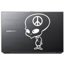 alien peace cartoon Car Window Decal Automobile Tablet Decal Tablet PC Sticker Wall Laptop mobile truck Notebook macbook Iphone Ipad - MyMonkeySticker.com