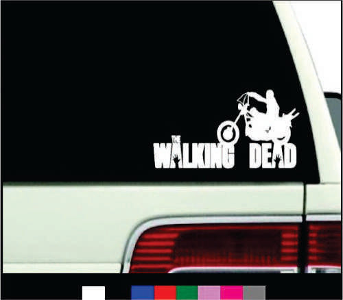 daryl Motorcycle The Walking Dead Logo Vinyl Sticker Decal For Car Windows Laptop - MyMonkeySticker.com