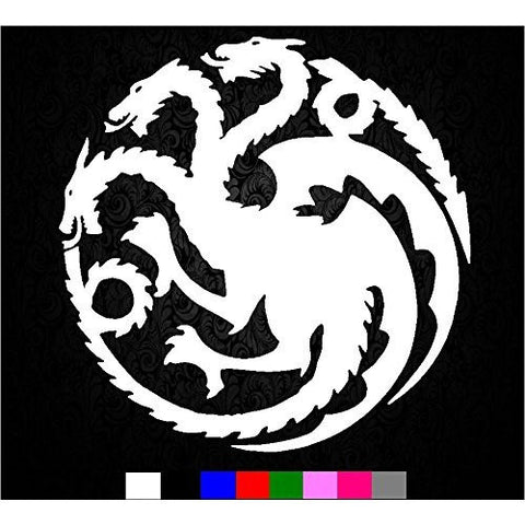 khaleesi Game of Thrones House Targaryen Sigil Vinyl Sticker Decal HBO Logo Car Truck Mac - MyMonkeySticker.com