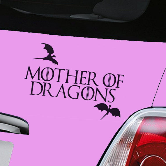 khaleesi Game of Thrones mother of dragons House Targaryen Sigil Vinyl Sticker Decal HBO Logo Car Truck Mac - MyMonkeySticker.com