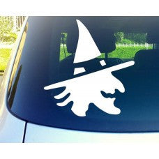 witch Side View - holloween Automobile Car Window Decal Tablet PC Sticker Automobile Window Wall Laptop Notebook Etc. Any Smooth Surface - MyMonkeySticker.com