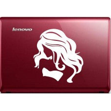 woman girl long hair Automobile Car Window Tablet PC Decal Automobile Window Wall Laptop Notebook Etc. Any Smooth Surface - MyMonkeySticker.com
