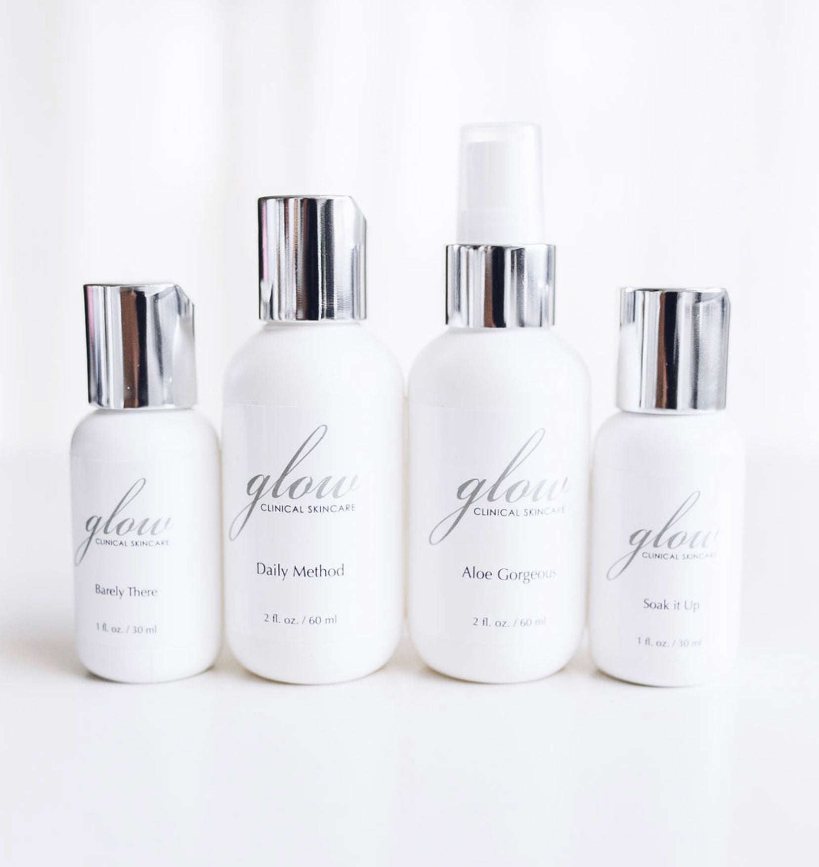 Travel size Glow Clinical Skincare.