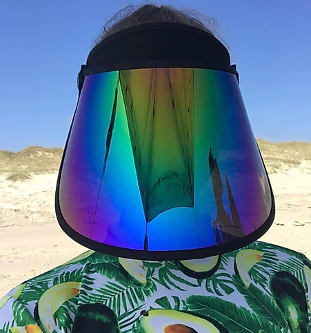 Blue Stone Sunshield - FULL FACE RAINBOW