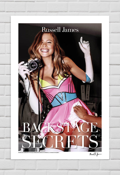 Behati Prinsloo, New York, 2011 with Typography from Book