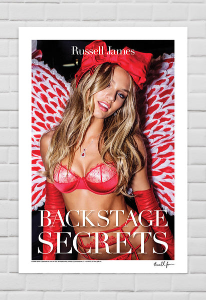 Candice Swanepoel, New York, 2012 with Typography from Book