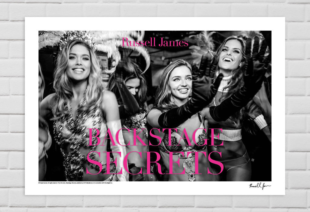 Doutzen Kroes, Miranda Kerr, Izabel Goulart, New York, 2012 with Typography from Book