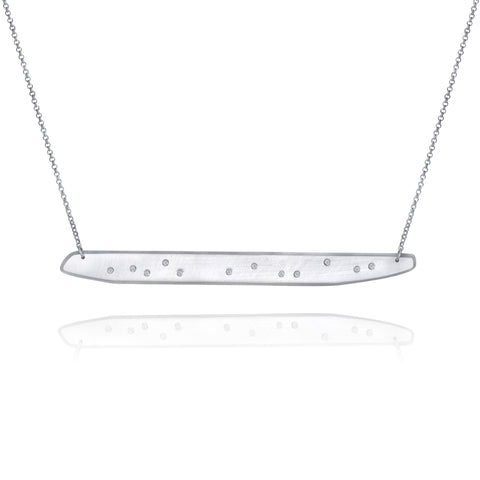 Skipping Stone Moissanite Pendant - XL