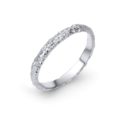 Moonrock Band 3mm Silver