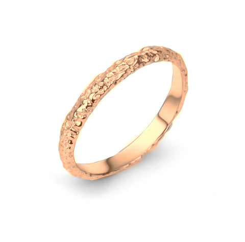 Moonrock Band 2.5mm Rose Gold