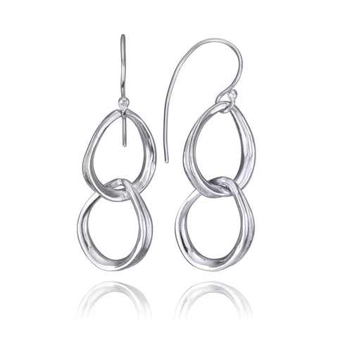 Fluid Nature Double Droplet Earrings
