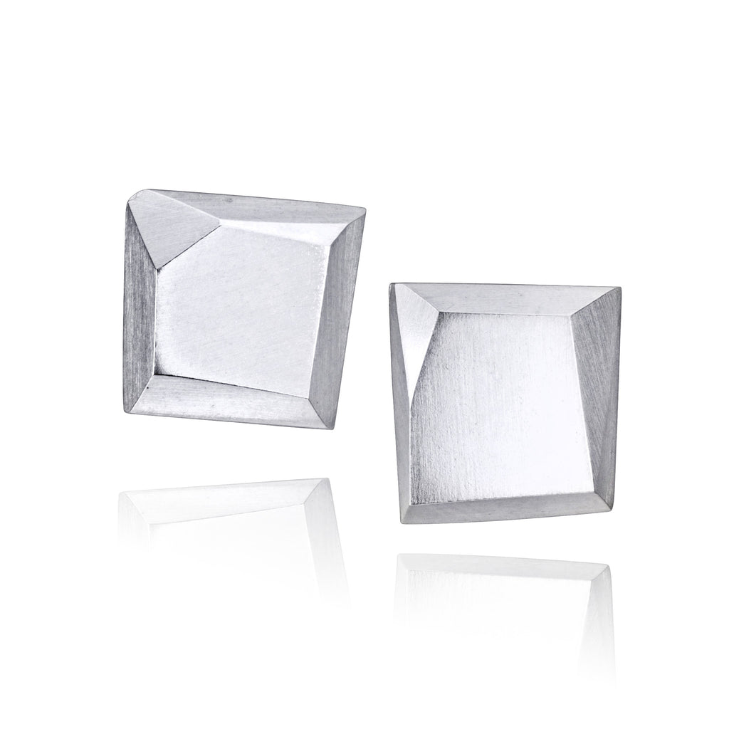 Polygon Square Stud Earrings