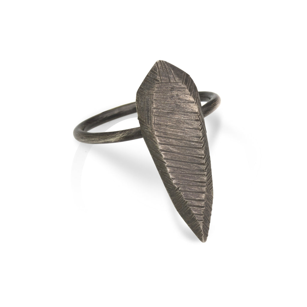 Polygon Teardrop Dagger Ring - Patina