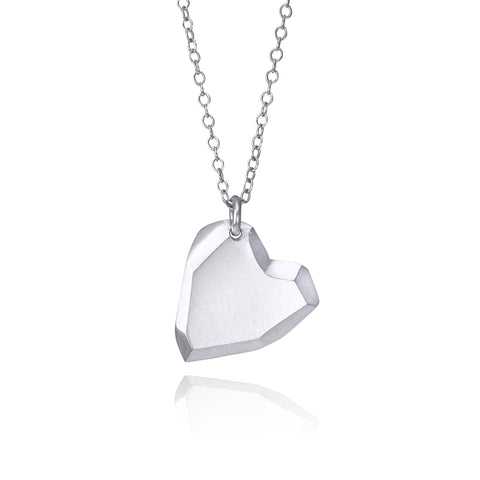 Polygon Heart Necklace