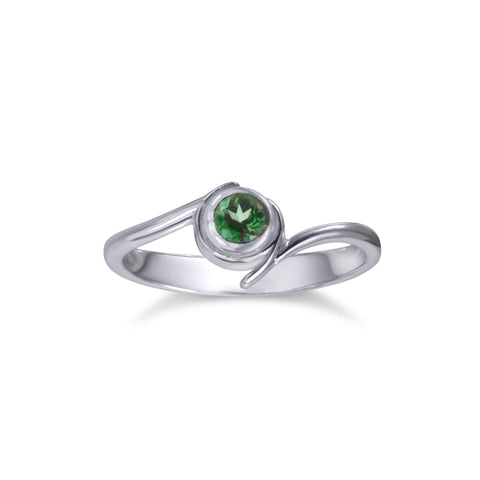 Kokiri 'Emerald' Ring - Silver and Topaz