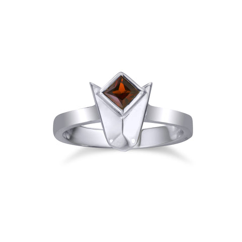 Goron 'Ruby' Ring - Silver and Garnet